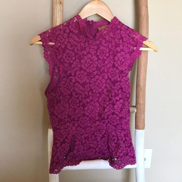 229e98176cdee Hot Pink Lace Peplum Top
